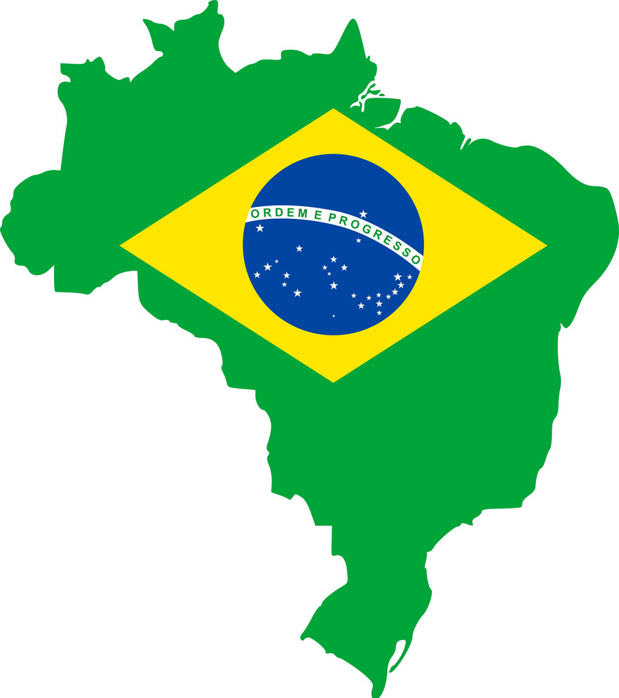 map and flag of brazil vector 1050410